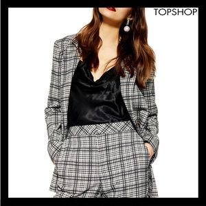 NEW TOPSHOP MOLLY CHECK SUIT JACKET